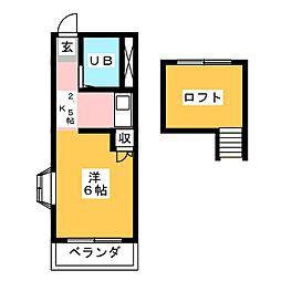 アトリエ草薙館[1階]の間取り