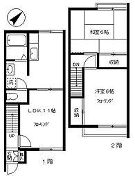 [テラスハウス] 東京都目黒区東が丘1丁目 の賃貸【/】の間取り