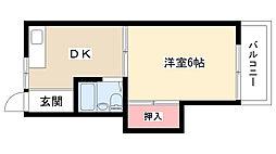 カームハウス[203号室]の間取り
