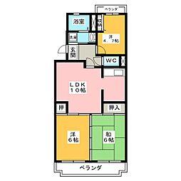 コンフォートウンノ[2階]の間取り