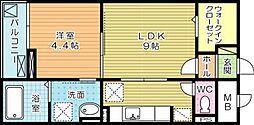 リッジクレスト[105号室]の間取り
