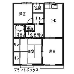 グリーンハイツ遠藤[1階]の間取り