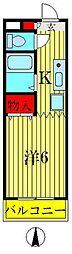 ドゥ・モリオビル[4階]の間取り