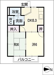 フレグランスK[2階]の間取り