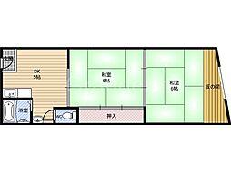 河合マンション[3階]の間取り