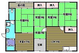 [一戸建] 大阪府河内長野市栄町 の賃貸【/】の間取り