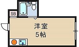 昭和グランドハイツ恵美須[7階]の間取り