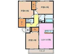 フローラM B棟[2階]の間取り
