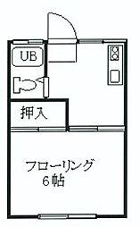 朝日荘[1階]の間取り