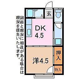 三栄アパート[2階]の間取り