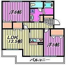 埼玉県川口市芝3丁目の賃貸マンションの間取り