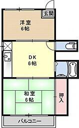 コーポ泉山[301号室号室]の間取り