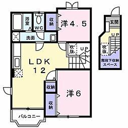 プリムヴェール2[2階]の間取り