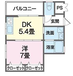 バス 沖縄国際大学入口下車 徒歩4分の賃貸アパート 3階1DKの間取り