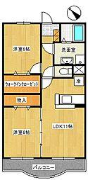マーベラスガーデン[3階]の間取り