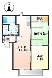メゾン奈良[2階]の間取り