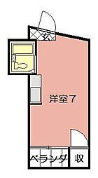 内山27ビル[801号室]の間取り