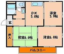 M'sステーションプラザ[1階]の間取り