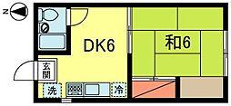 阿佐谷ビレージ[1階]の間取り