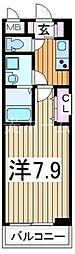 ヌーベル・オーブ・ヒル[2階]の間取り