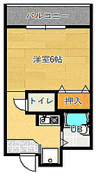 グランヴェール深澤[106号室]の間取り