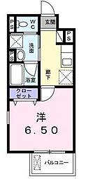 東京都渋谷区神宮前6丁目の賃貸マンションの間取り