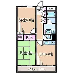 ローズハイツ武蔵小杉[4階]の間取り