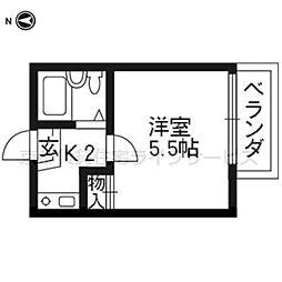 モナ十条[102号室]の間取り