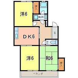 サンライト東刈谷[102号室]の間取り
