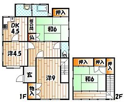 [一戸建] 福岡県北九州市八幡東区中央3丁目 の賃貸【/】の間取り