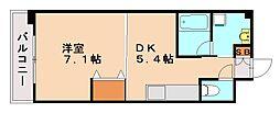 福岡県福岡市城南区七隈6丁目の賃貸マンションの間取り