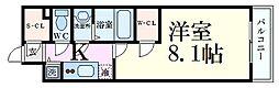 エスリード京都梅小路 6階1Kの間取り