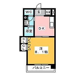 エンブル・ステージ馬渕[6階]の間取り