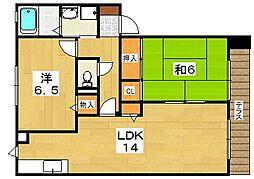 シャーメゾンマキノ[1階]の間取り