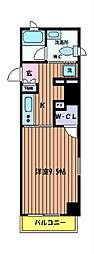 THEパームス国立[4階]の間取り