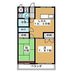 グリーンハイツ三澤パート6[1階]の間取り