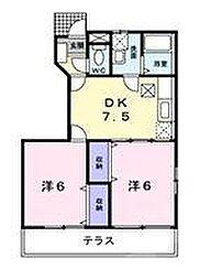 エテルノユニティ[1階]の間取り