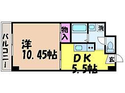 愛媛県松山市萱町2丁目の賃貸マンションの間取り