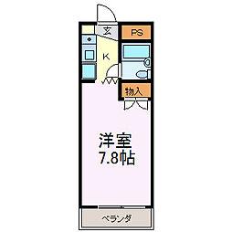 ハミング中田[305号室]の間取り