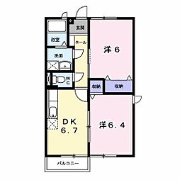 コータ・コート黒川 B[2階]の間取り