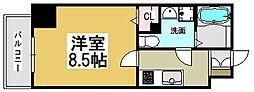 大阪府大阪市北区天満橋1丁目の賃貸マンションの間取り