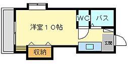 田中第8ハイツ[401号室]の間取り
