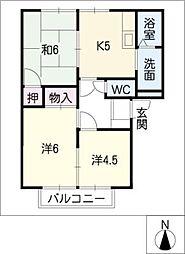 ダン・カーサ111[2階]の間取り