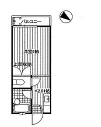 東京都中野区鷺宮5丁目の賃貸アパートの間取り