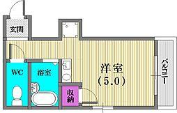 大倉山サンハイツ[2階]の間取り