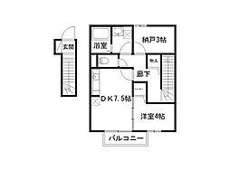ローズコート砥堀[2階]の間取り
