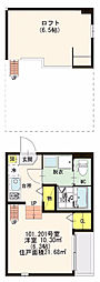 仮)ハーモニーテラス・尼崎市上坂部三丁目・SKHコーポ[1階]の間取り