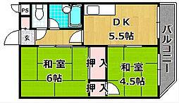 宮之阪ビル[4階]の間取り