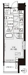 東京メトロ丸ノ内線 淡路町駅 徒歩1分の賃貸マンション 12階1Kの間取り