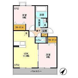 カシータIII[3階]の間取り